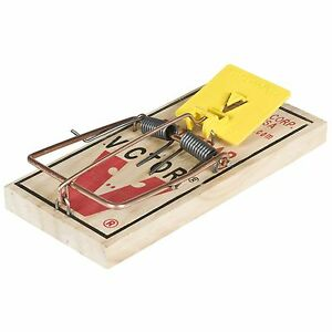 Victor Pest Wooden Rat Trap Rodent Control Snap Shut Easy Set +FREE P&P