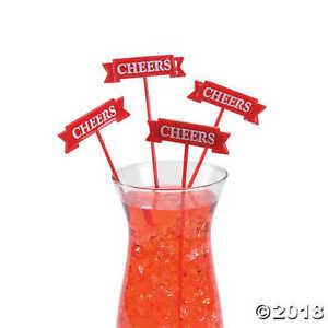 Christmas Stir Sticks, Cocktail Bar Drink Mixer Sticks Holiday Party Set of 25