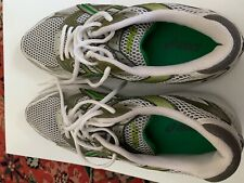 ASICS WOMEN'S ATHLETIC SHOES WHITE WITH GREEN SIZE 11