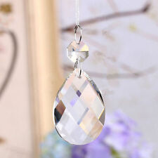 20PCS Crystal Glass Beads Pendant Garland Chandelier Prism Wedding Party Decor
