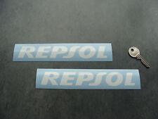 2x stickers Repsol Blanc 18cm auto moto bike decals pegatinas aufkleber A107-010