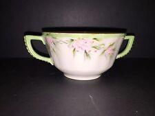 Elite L France Limoges sugar bowl no lid pink flower green