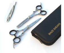 Professional Hairdressing Barber Hair Cutting+Thinning Scissors Razor Set 6.5''