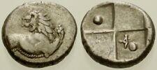 027. Greek Silver Coin. Chersonesos. Ar Hemidrachm. Lion. Vf