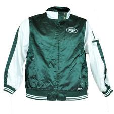 NFL Reebok Youth Girls Junior Satin New York Jets Jacket Zipper Jersey Sweater