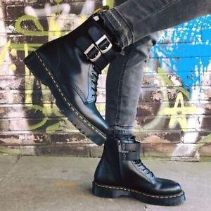 Dr. Martens 1460 ALT Black Smooth Leather Buckle Boots UK 9 - 11 RRP 159