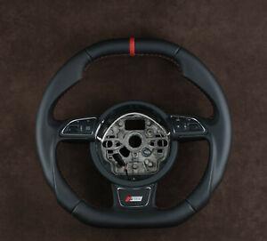 OEM Audi a4 a5 a1 a6 a8 a7 s6 s7 s8 steering wheel customized flat bottom & top