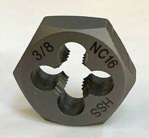 HSS Dies 3/16 1/4 5/16 3/8 7/16 1/2 9/16 5/8 UNC UNF Die Nut Thread Cut & Repair