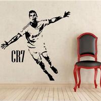 Footballer Player Ronaldo Wall Sticker Decal Boys Bedroom Nursery Sport Fan Gift