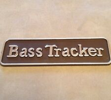 Old BASS TRACKER Boat Plastic Emblem~Dash~Interior~Black~Fishing Boat~NOS