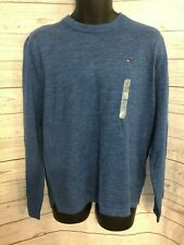 Tommy Hilfiger Men's Crew Neck Sweater 100% Cotton Blue Size M Medium