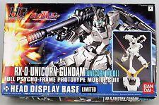 GUNDAM - 1/144 RX-0 Unicorn Gundam Unicorn Mode + Head Model Kit HGUC Bandai