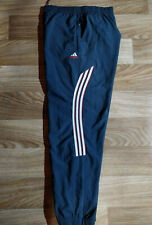 Adidas Vintage Mens Tracksuit Pants Trousers Training Gray Striped