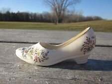 CRE Irish Porcelain Floral Heel Shoe Galway Ireland  CA1