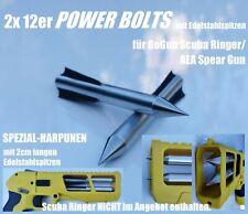 2x POWER HARPOONS Pfeile für GoGun Scuba Ringer/AEA Spear Gun mit Edelstahlspitz