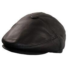 Ballonmütze Herren Baskenmütze Schlägermütze Flatcap Leder Schiebermütze Cap MXL