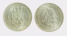 pci4586) Netherlands  Juliana - 1 gulden  1965 silver