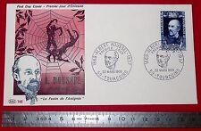 ENVELOPPE 1er JOUR PHILATELIE 1969 A. ROUSSEL LE FESTIN DE L'ARAIGNEE