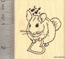 Chinchilla Valentine  Rubber Stamp H13101