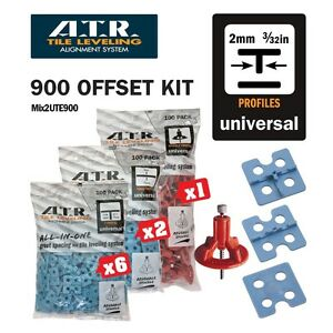 ATR TILE LEVELING SYSTEM Qty 900 PIECE 2mm 'Tee' Universal Kit