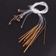 12x aiguille crochet 3-10mm bambou + plastique tube afghane tunisien tricot