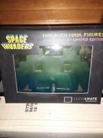Loot Crate: Space Invaders Mini Alien Vinyl Figure GREEN/Clear NEW - BIN98