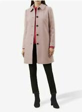 Hobbs Light Pink Carron Winter Coat Feminine Wool Jacket Trench SIZE 12 RRP £225