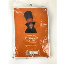 Halloween Costume Inflatable Top Hat One Size Fits Most Adult Use Only NEW Black