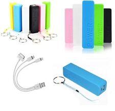 POWER BANK CASE 5200 mAh CARICA BATTERIA PORTATILE UNIVERSALE SMARTPHONE USB LED