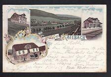 1897 Oberzent Kailbach / Gasthaus zum Hirsch / Bahnhof