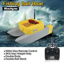T168 Fishing Bait Hook RC Boat 500M Remote Control Double Stock 5 Hours Sailing