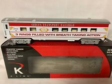✅K-LINE BY LIONEL CIRCUS TRANSPORT RAILROAD DINER PASSENGER CAR! RINGLING BROS