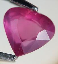 Saphir rose facetté de Tanzanie 1,20ct faceted pink unheated sapphire tanzania