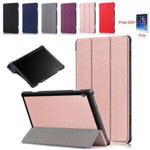 Slim PU Leather Stand Case Cover For Lenovo Tab M10 TB-X605 TB-X505F+Film 10.1''