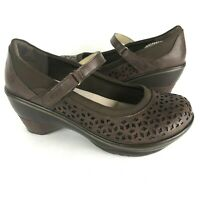 Jambu 8.5 Mary Jane JBU Alicante brown Vegan perforate comfort shoe walking hee