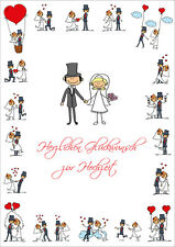 "A 4 maxi-card ""Funny Wedding Card (10686) with envelope, XXL Folding Card"