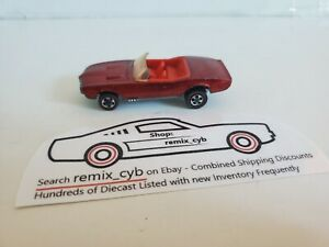 1967 HOT WHEELS RED LINE Custom Firebird - Red/Red Int/Clear Glass - HK Base