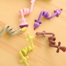 Earphone Winder Organizer Wire Cord Long Cartoon 4PC Tidy Clean Random Color