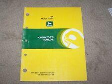 John Deere Used 714 Mulch Tiller Operators Manual A8