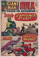 Tales To Astonish #61 G-VG 3.0 The Hulk Giant-Man Wasp Steve Ditko Art!