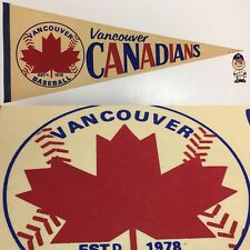 Vintage Vancouver Canadians Baseball Mlb 12x29.75 Pennant Banner Minor League