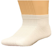 NWT Men/'s Lee Cotton Blend Quarter Crew Socks Shoe Size 6-12 White 6 Pair #622R