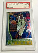 1996 BOWMAN'S BEST ANTOINE WALKER #R6 ROOKIE CARD RC CELTICS PSA 9 MINT (DR)