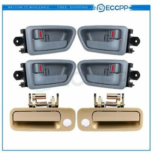 6Pcs For 1997-2001 Toyota Camry Front & Rear Left & Right Door handles