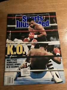 1988 Sports Illustrated Mike Tyson Spinks