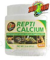 Repti Calcium D3 Vitamin Reptile Ultrafine Carbonate Powder Supplement Zoo Med