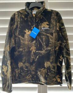 Columbia STEENS MOUNTAIN Full Zip Fleece Camo Print Jacket Size M, Mens