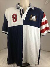 Vintage Men's USATommy Hilfiger Polo MENS SIZE XL RED WHITE BLUE USA STRIPES