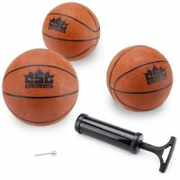 "5"" Mini Basketballs with Needle & Inflation Pump, 5-pack"