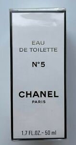 CHANEL NO 5 EAU DE TOILETTE 50 ML 1.7 fl oz VINTAGE SEALED BOX